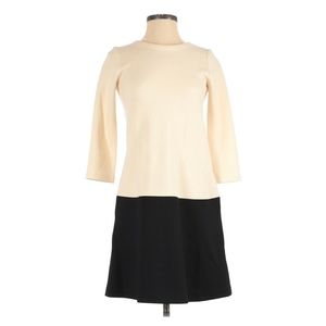 Lisa Perry Wool Cream and Black Dress